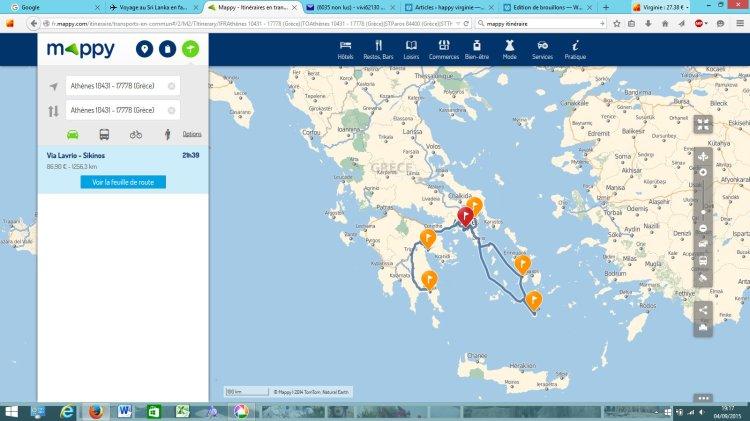 itinéraire en Grèce